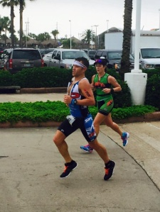 Giving it all I've got on the run course at the 2015 Texas 70.3.