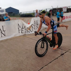 Coming into T2 at the 2015 Texas 70.3