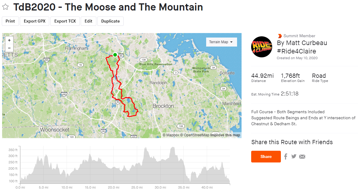 The Moose & The Mountain Route
